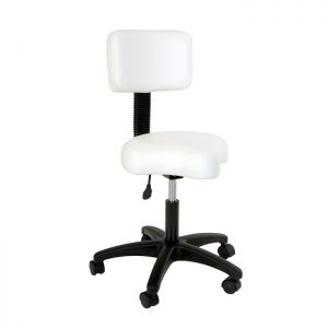 Contoured Stool with Backrest
